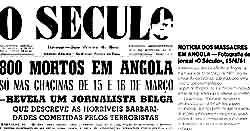 События в Анголе, происшедшие 15 марта 1961 года, потрясли Португалию