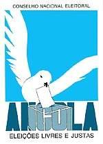 Плакат, выпущенный к выборам в Анголе в 1992 году.